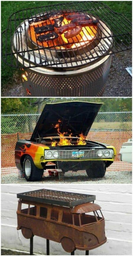 10 Creative Recycling DIY Grill, Bbq and Fire Pit Projects