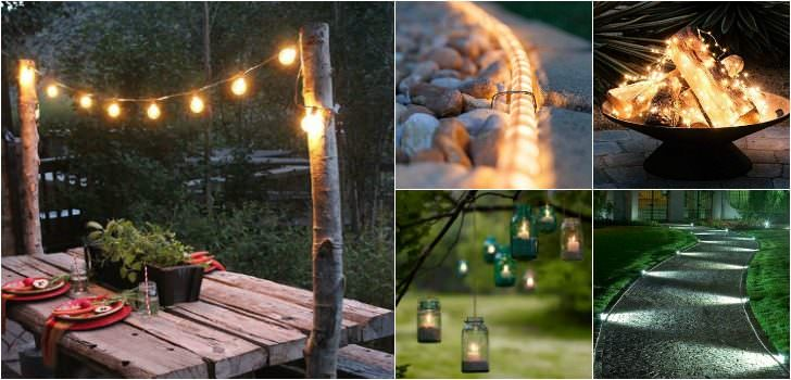 Garden Outdoor Lighting Garden Outdoor Lighting Ideas For Your