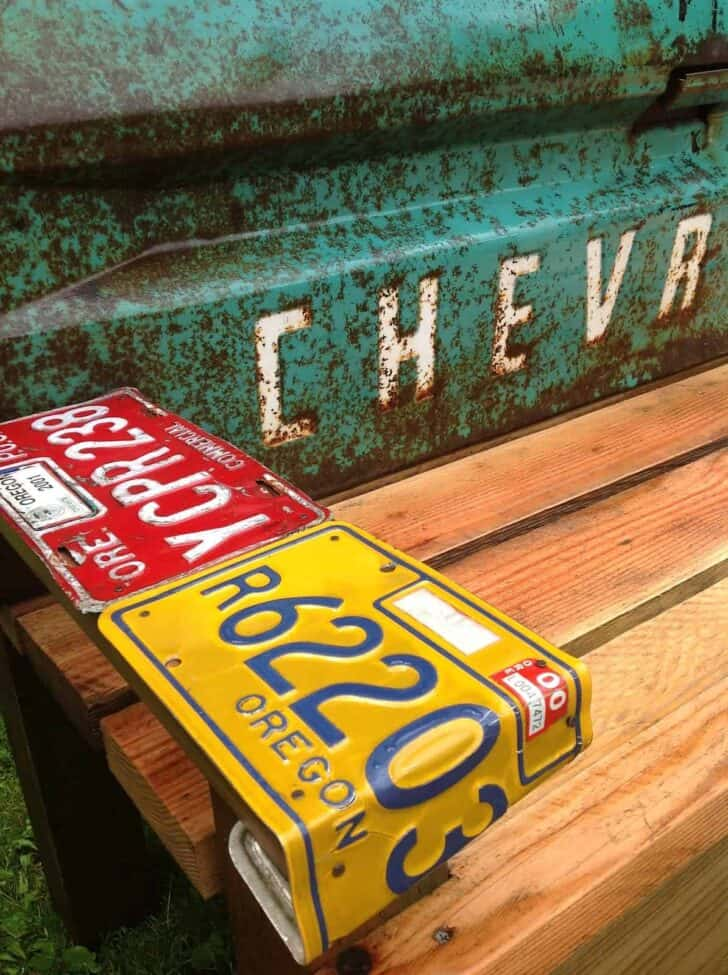 Diy Patio Bench With An Old Car Tailgate Patio & Outdoor Furniture