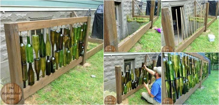 Make Your Repurposed Wine Bottle Fence 1001 Gardens