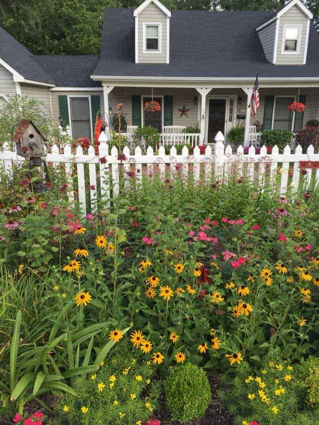 Our Picket Fence Garden - landscaping