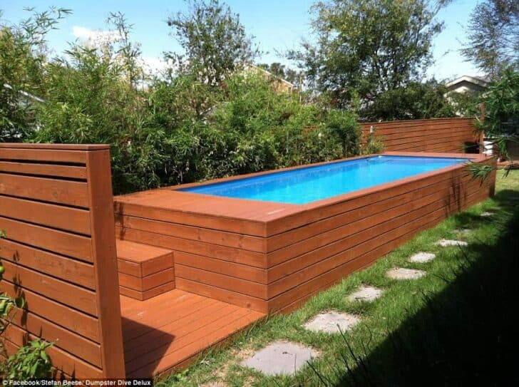 Architect Turns Dumpster into Family Swimming Pool - pools-spas