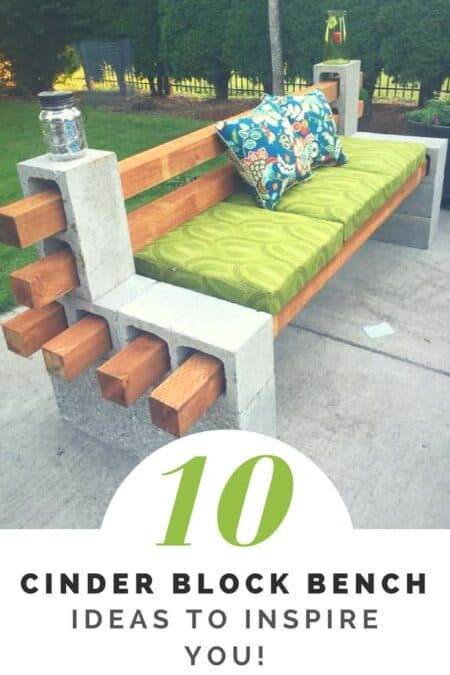 How to Make a Cinder Block Bench: 10 Amazing Ideas to Inspire You! 1 - Patio & Outdoor Furniture - 1001 Gardens