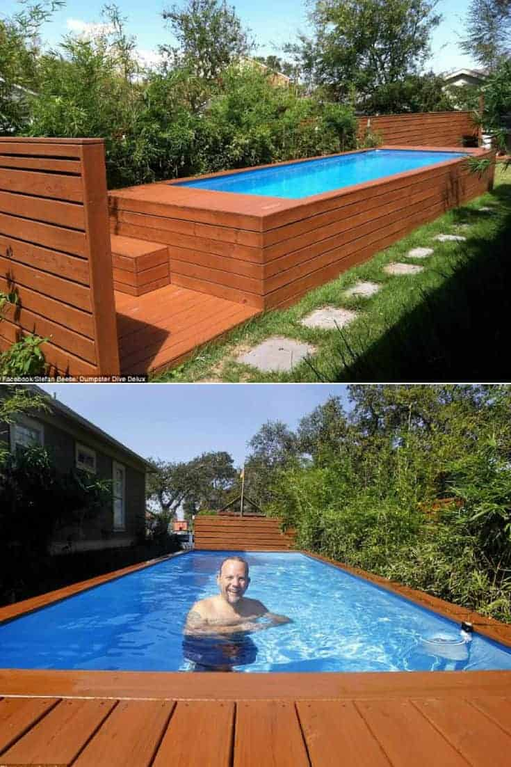 Architect Turns Dumpster Into Family Swimming Pool 1001
