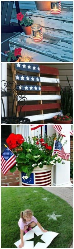 8 Quick & Cheap Decoration Ideas for Your 4th of July Garden Party - garden-decor