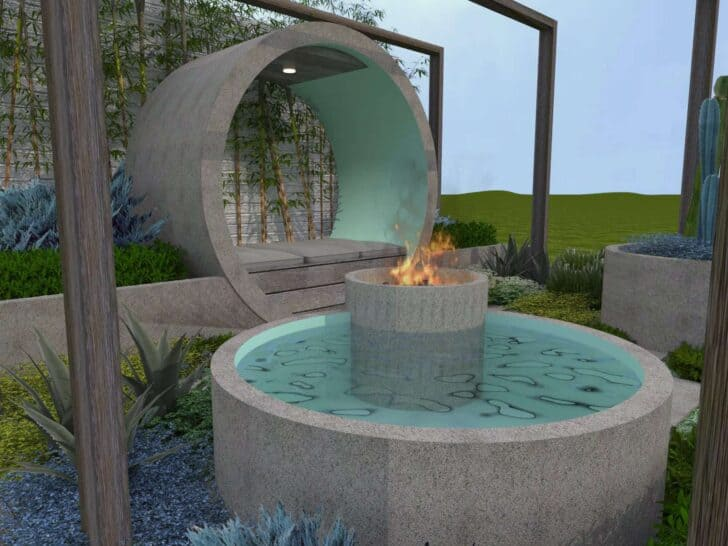 Small Zen Design Garden Called Pipe Dream - sheds-huts-treehouses, garden-decor