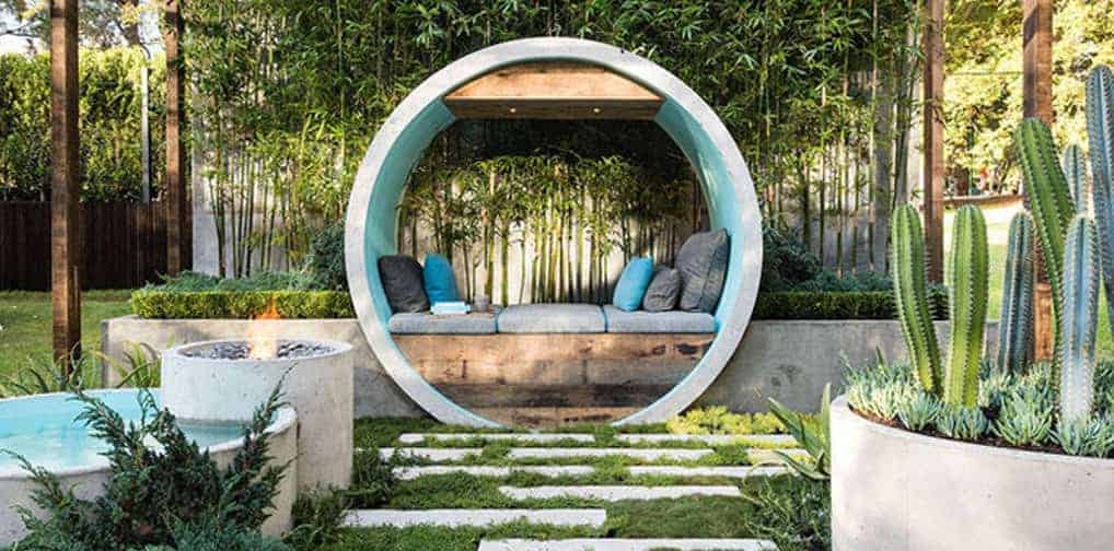 Small Zen Design Garden called Pipe Dream
