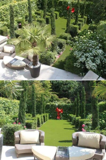 Simple Design Garden in the Heart of Paris