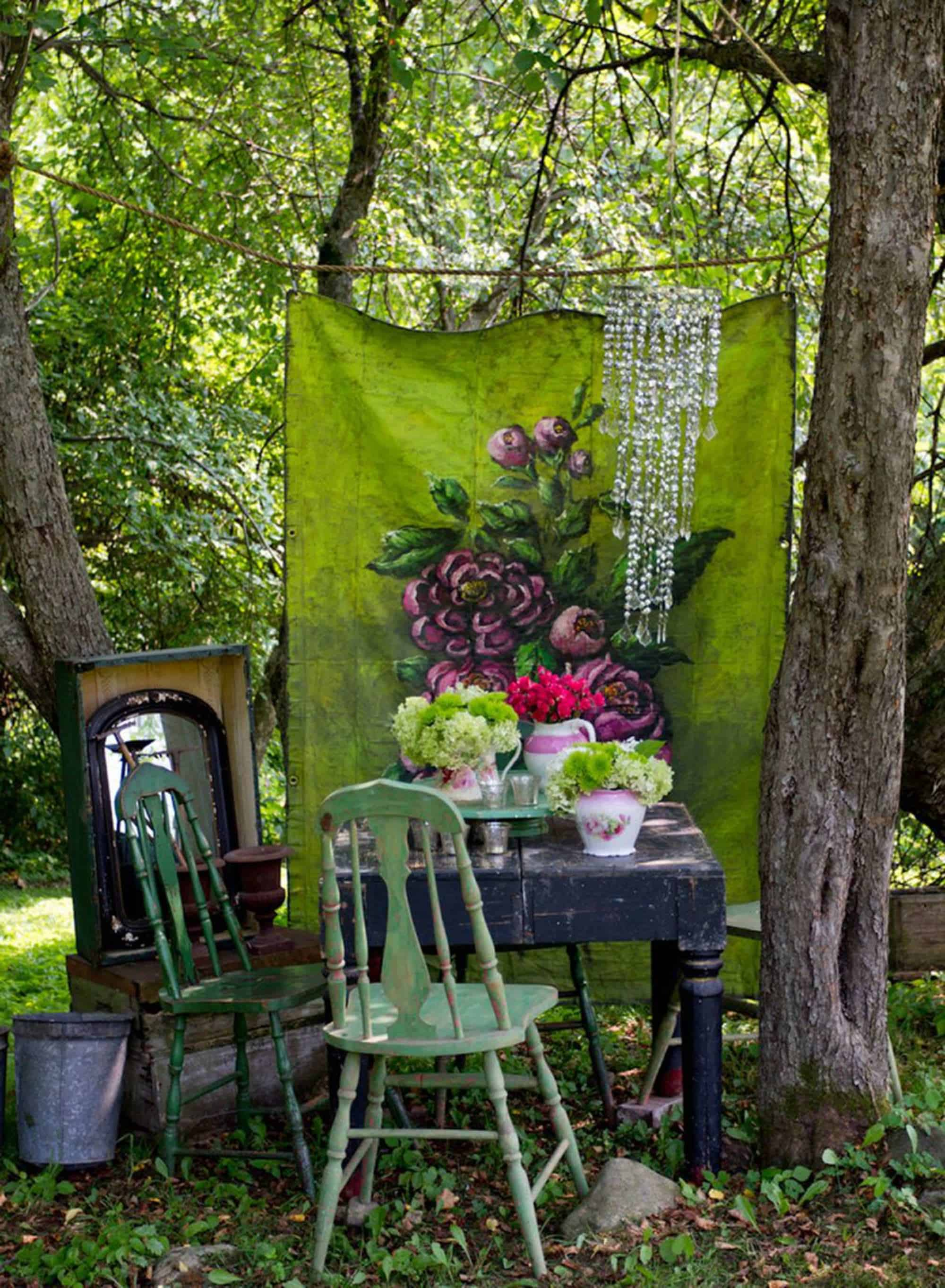 12 shabby chic bohemian garden ideas 1001 gardens for Garden ideas 2016