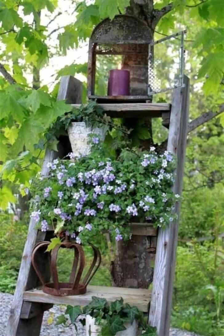 12 shabby chic bohemian garden ideas 1001 gardens for Decoration jardin balcon
