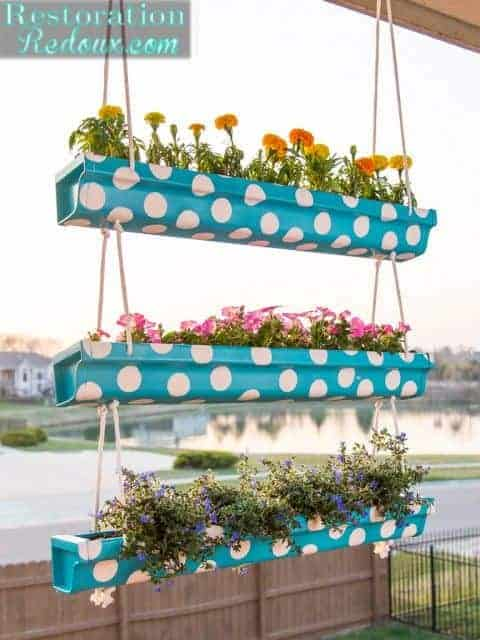 20 Easy Diy Gutter Garden Ideas Garden Decor 1001 Gardens