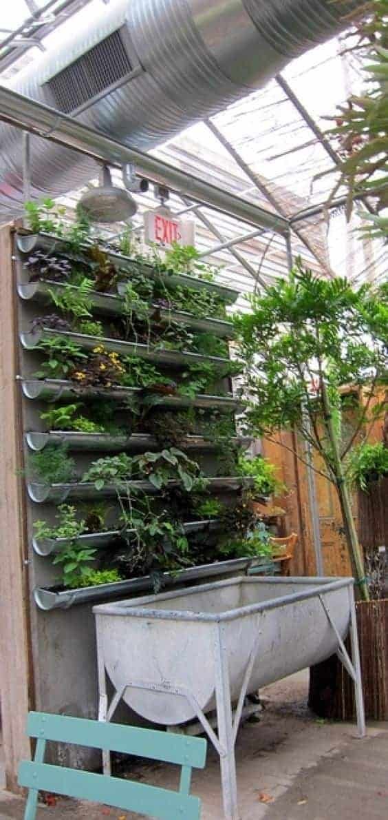 20 Easy DIY Gutter Garden Ideas 18