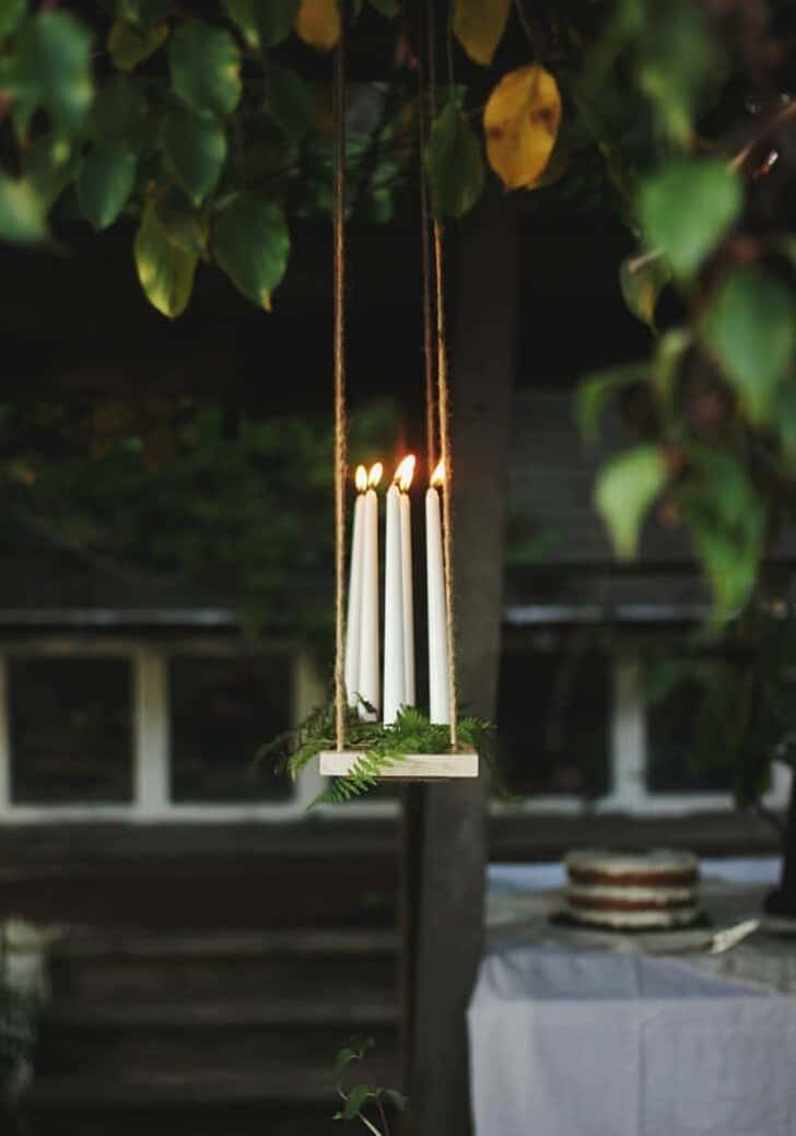 Diy Outdoor Candle Chandelier Tutorial Outdoor lighting Patio & Outdoor Furniture