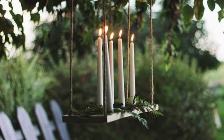 Diy Outdoor Candle Chandelier Tutorial - patio-outdoor-furniture, outdoor-lighting