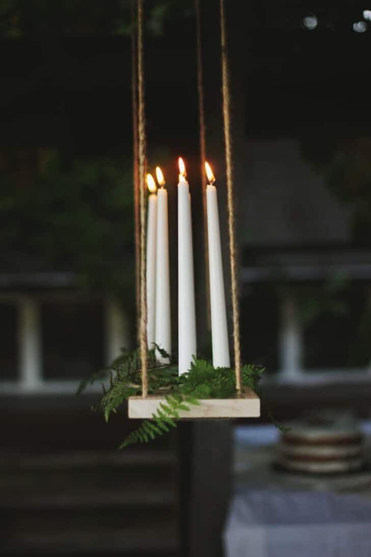 Diy Outdoor Candle Chandelier Tutorial