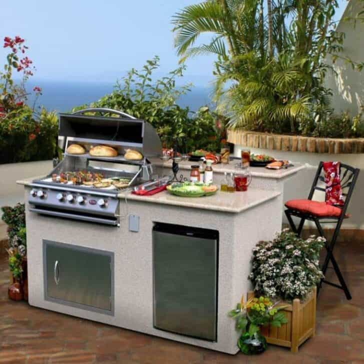 Outdoor kitchen ideas top 20 1001 gardens for Outdoor kitchen designs small spaces