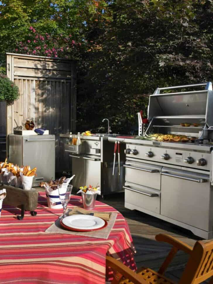 14 U2013 Outdoor Summer Kitchen In A Modern Style