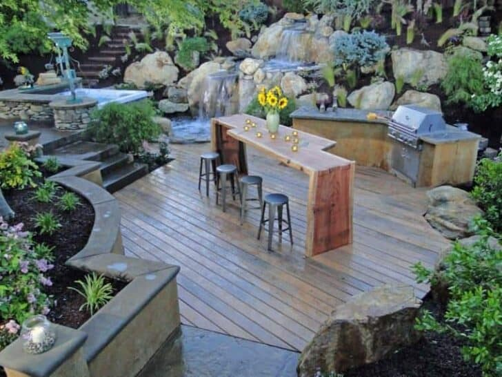 Outdoor kitchen ideas top 20 1001 gardens for Terrace kitchen garden ideas