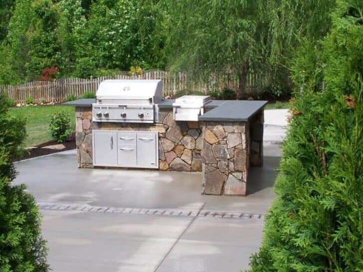 1 U2013 Idea Of A Small Modern Outdoor Summer Kitchen