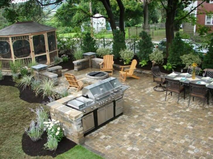 Top 20 diy outdoor kitchen ideas 1001 gardens for Best camping kitchen ideas
