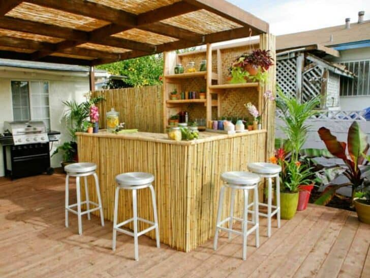 Top 20 diy outdoor kitchen ideas 1001 gardens for Summer kitchen plans