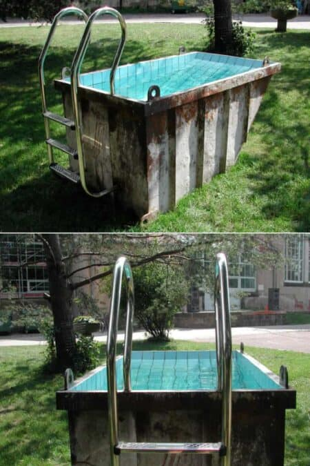 Cute Mini Dumpster Swimming Pool