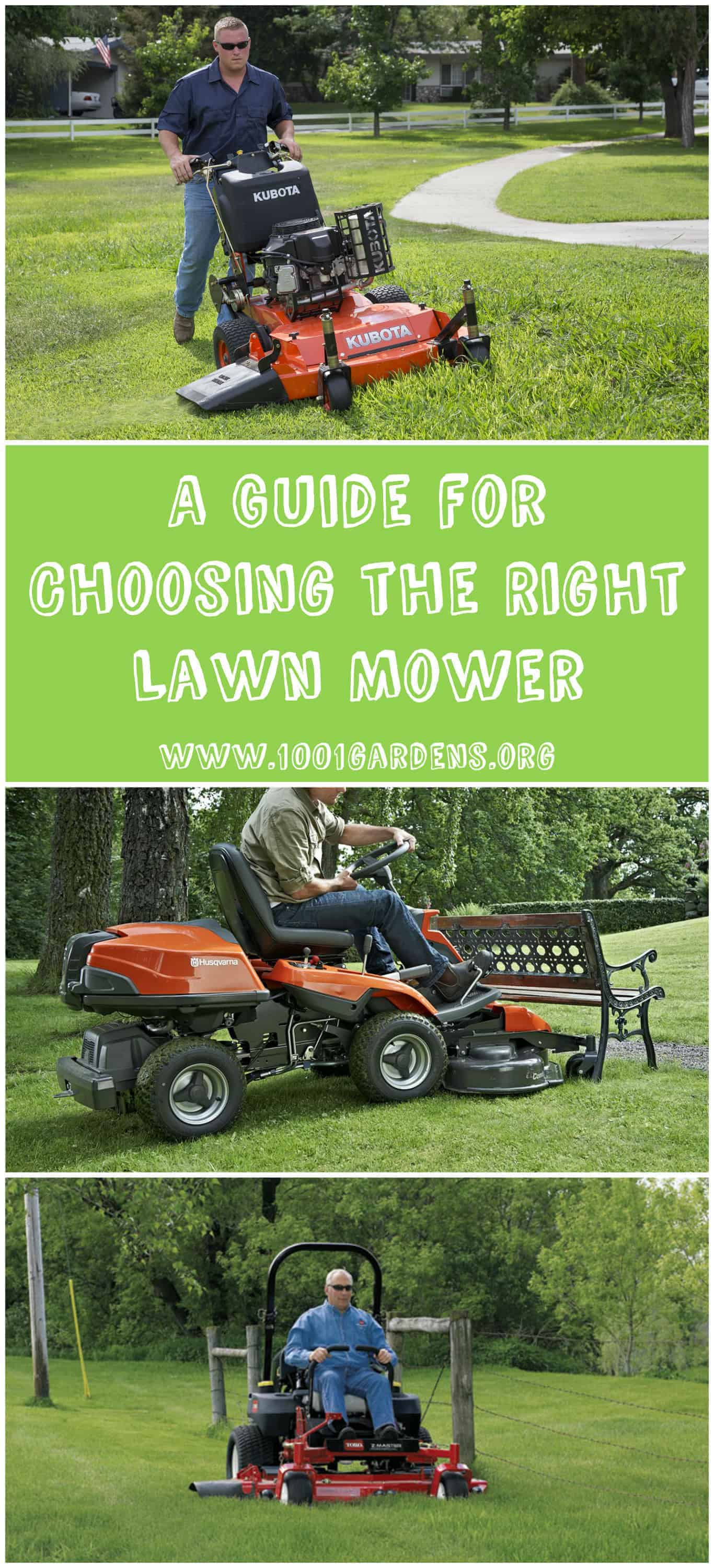 Lawn Mower: A Guide for Choosing the Right One - flowers-plants-planters