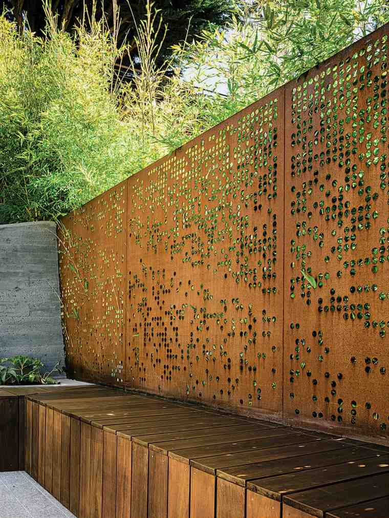 Corten Steel: 50 Very Trendy Garden Decor Ideas 83 - Patio & Outdoor Furniture