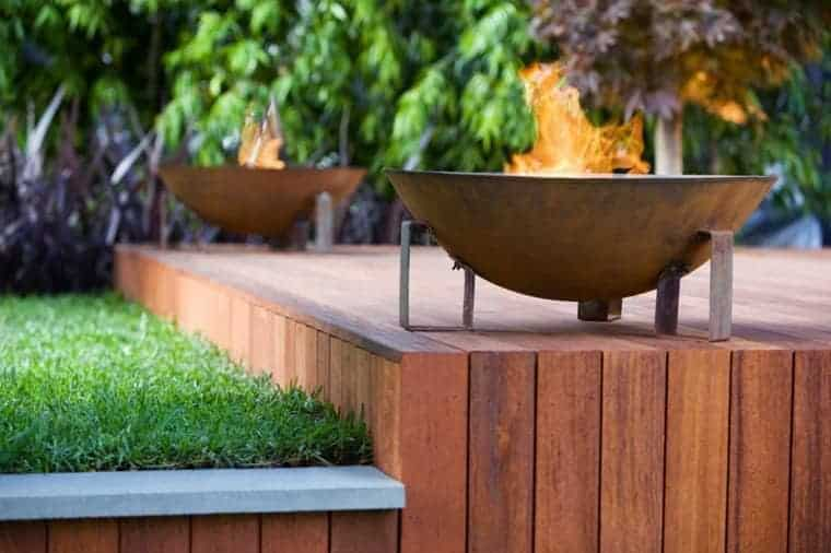 Corten Steel: 50 Very Trendy Garden Decor Ideas 71 - Patio & Outdoor Furniture
