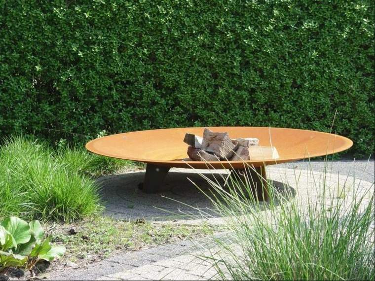 Corten Steel: 50 Very Trendy Garden Decor Ideas 67 - Patio & Outdoor Furniture