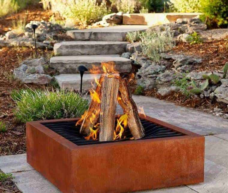 Corten Steel: 50 Very Trendy Garden Decor Ideas 63 - Patio & Outdoor Furniture