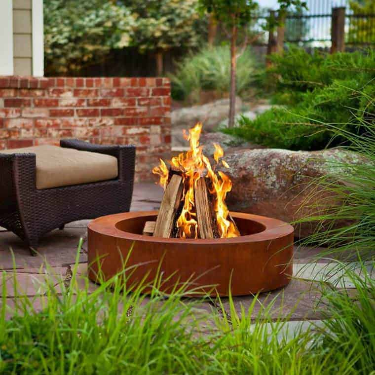 Corten Steel: 50 Very Trendy Garden Decor Ideas 59 - Patio & Outdoor Furniture