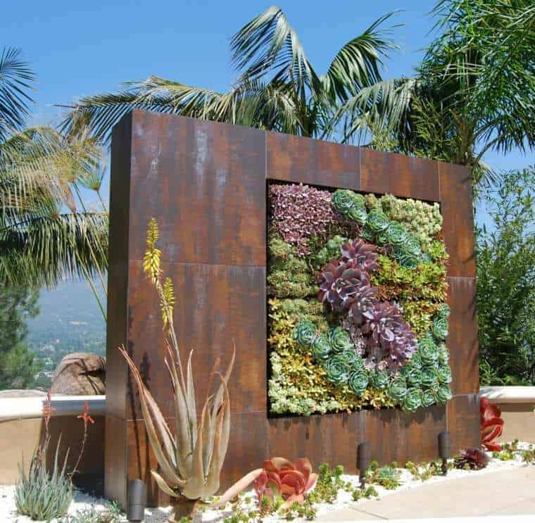 Corten Steel: 50 Very Trendy Garden Decor Ideas 47 - Patio & Outdoor Furniture
