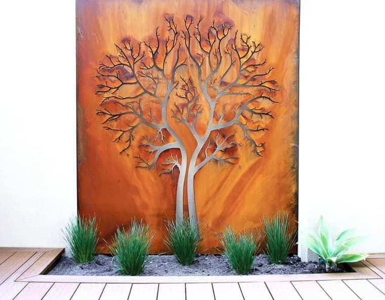 Corten Steel: 50 Very Trendy Garden Decor Ideas 41 - Patio & Outdoor Furniture