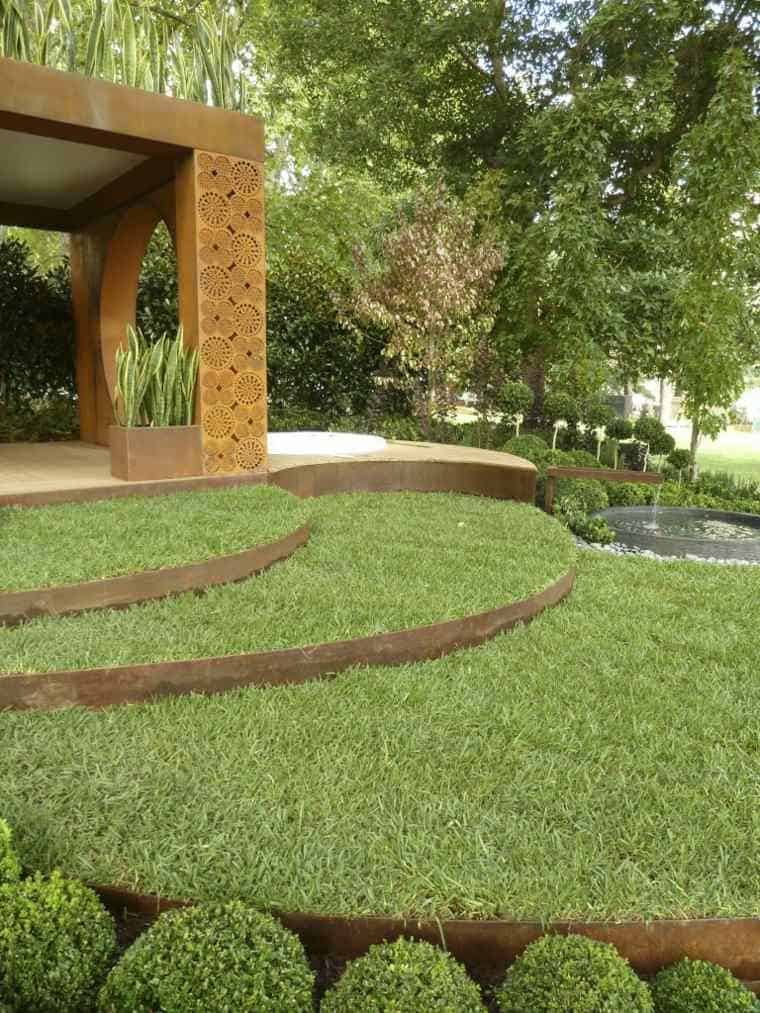 Corten Steel: 50 Very Trendy Garden Decor Ideas 39 - Patio & Outdoor Furniture