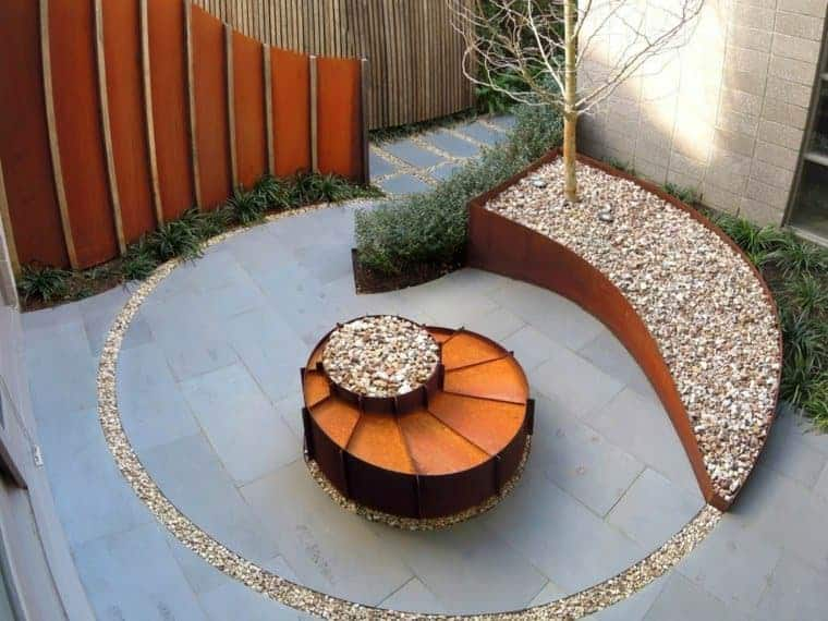 Corten Steel: 50 Very Trendy Garden Decor Ideas 37 - Patio & Outdoor Furniture