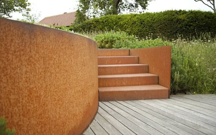 Corten Steel: 50 Very Trendy Garden Decor Ideas 19 - Patio & Outdoor Furniture