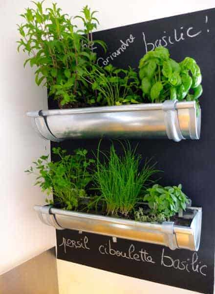 10 Amazing Ideas to Recycle a Rain Gutter - garden-decor, flowers-plants-planters