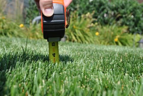 Mowing to the proper height
