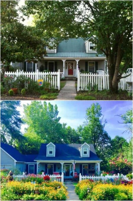 Before / After Cottage Home and Garden Transformation