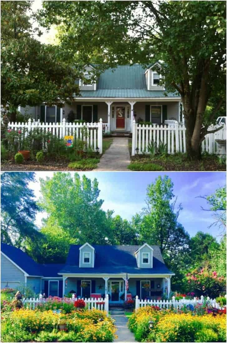 Before / After Cottage Home and Garden Transformation Garden Decor