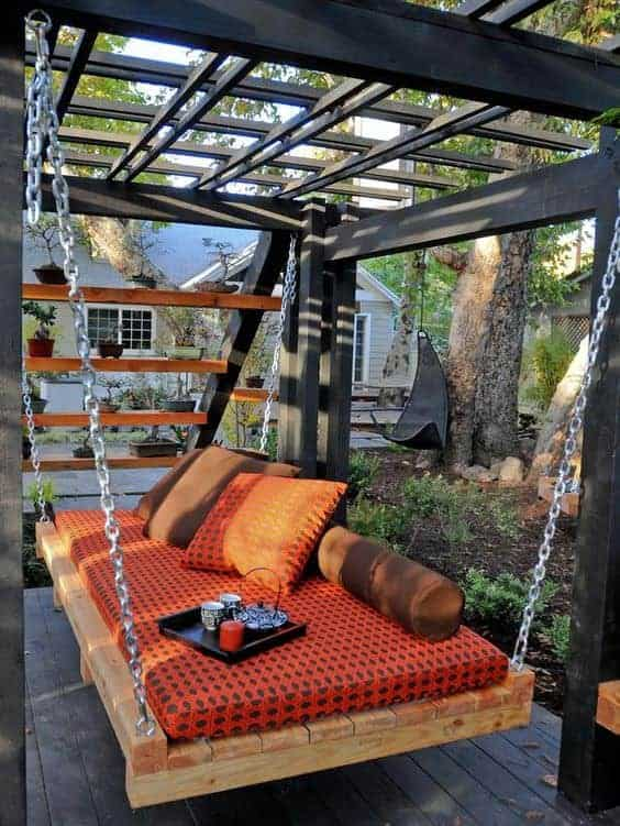 Turn that old, boring pergola into an amazing Outdoor Daybeds escape!