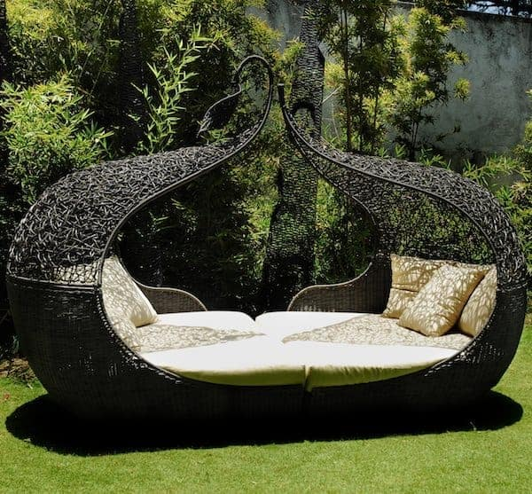 The Corsica Twin Daybed is a gorgeous example of a luxurious, romantic Outdoor Daybeds Getaway idea!