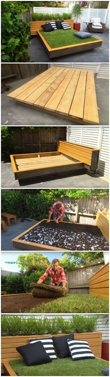 How to Make an Amazing Grass Daybed with Pallets
