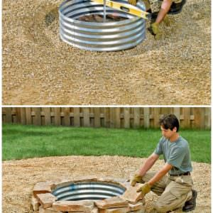 How to Build a Fire Pit Ring 2 - Fire Pits & Grills - 1001 Gardens