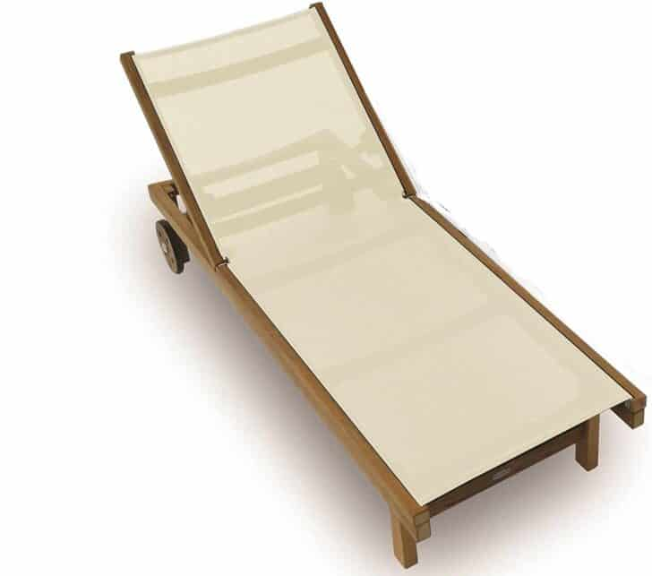 royal teak sundaze sling outdoor lounge chair