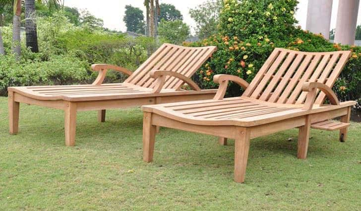 New Steamer Teak Multi Position Sun Chaise Lounger