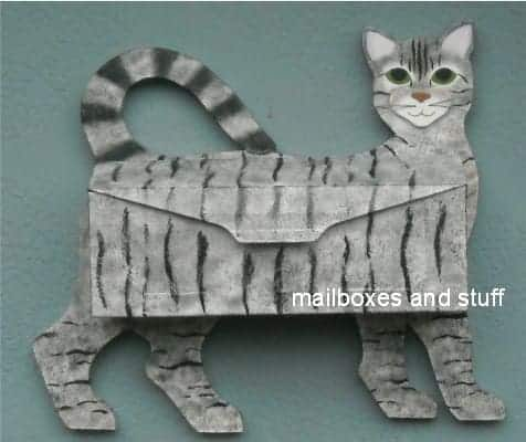 Don't settle for a boring Wall-Mounted Mailbox. Instead, have one to match your beloved pet like this one shaped like a cat.