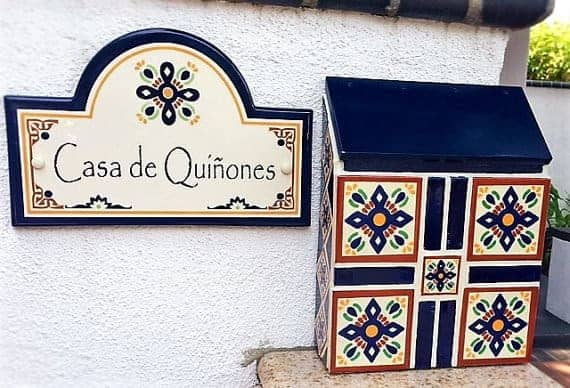 Make the front of your home bright and cheery with this Mexican-Tiled Wall-Mounted Mailbox.