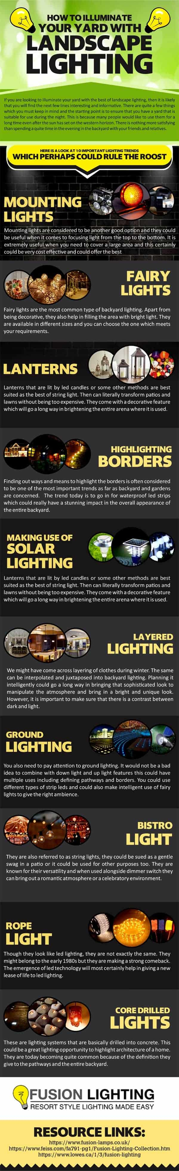 How To Illuminate Your Yard With Landscape Lighting - outdoor-lighting, garden-decor